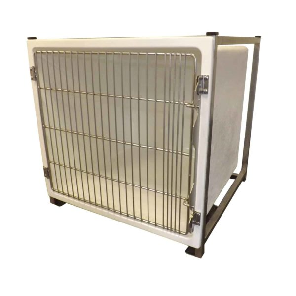 Polyester cage with stainless steel grid door