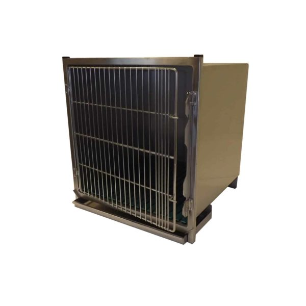 Stainless steel veterinary cage