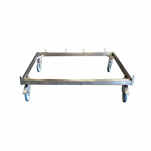 4-wheel chassis for stainless steel cage A