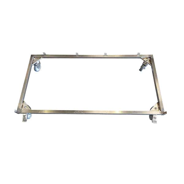 AC000204 Chassis 4 roulettes inox X2 à freins Cage C N2
