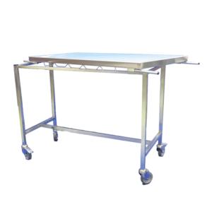 Veterinary stretcher trolley