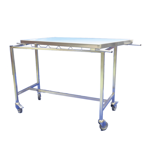 Veterinary stretcher trolley