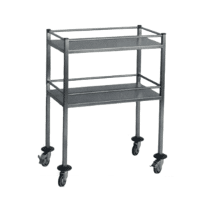 Veterinary trolley with shelves