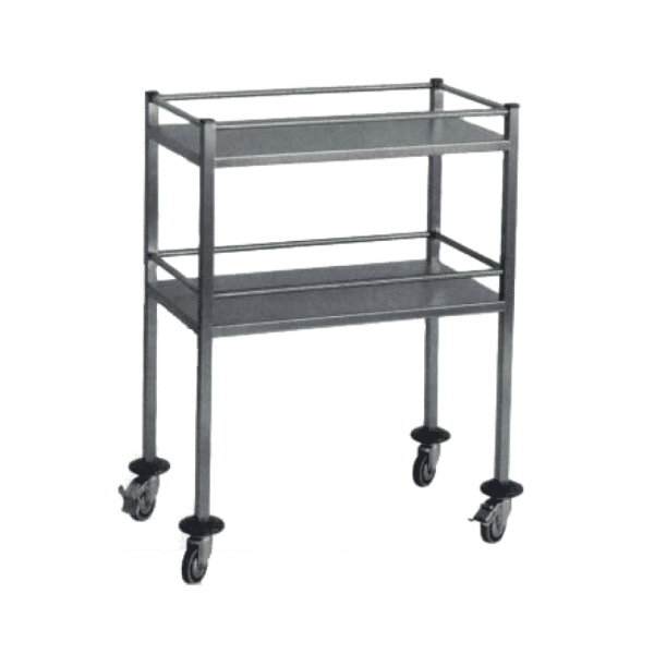Trolley with two shelves