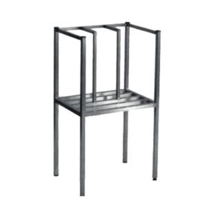 Stainless steel development table.