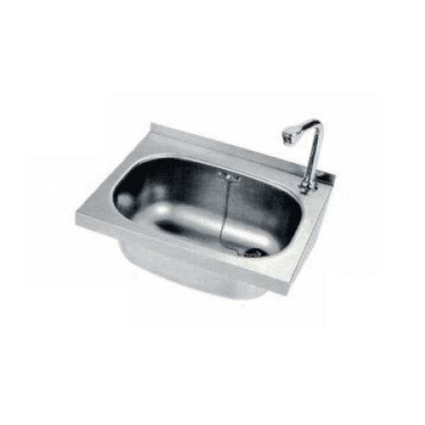 Stainless steel hand washer.