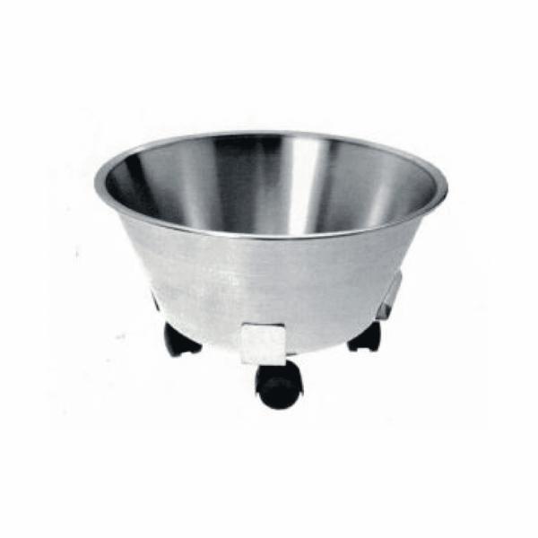 Stainless steel wheeled bin