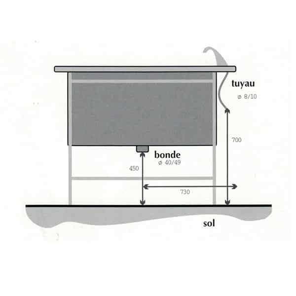 TA170000 Table préparation plateau barreaux