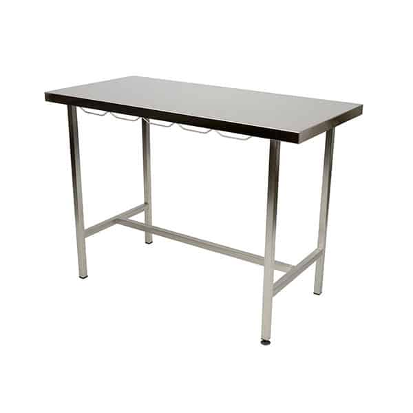 Consultation table with stainless steel flat top