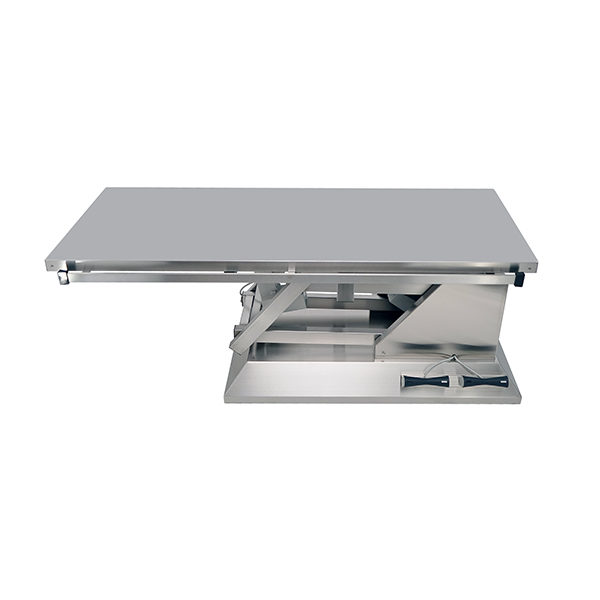 Electric surgery table with flat top
