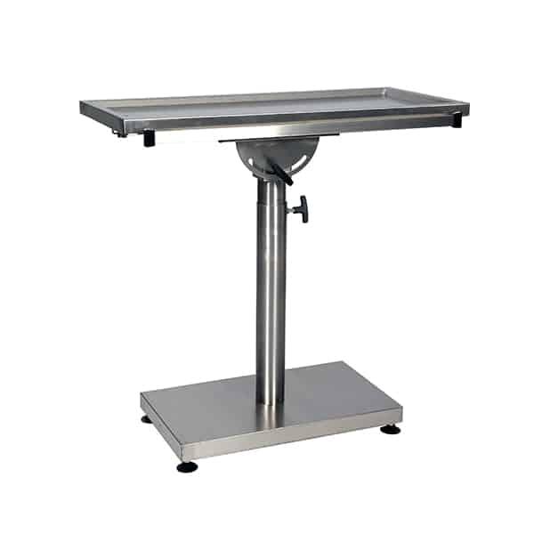 TA900200 Table chirurgie petits animaux avec 1 évacuation L1000 P460 H750 à 1200 (1)