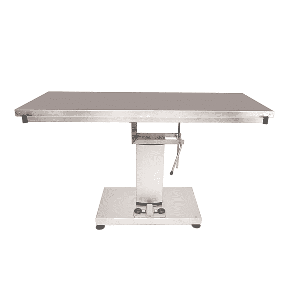 Surgery table with central electric column and flat top