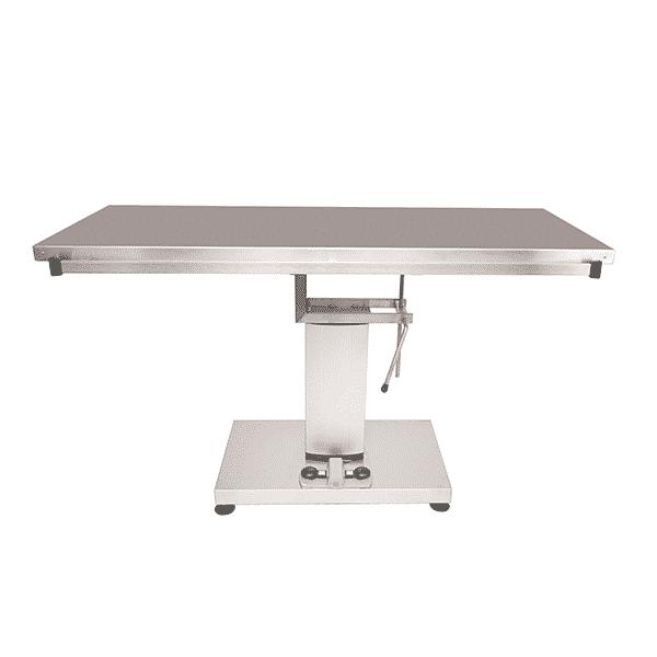 Table chirurgie avec colonne centrale électrique et plateau plat