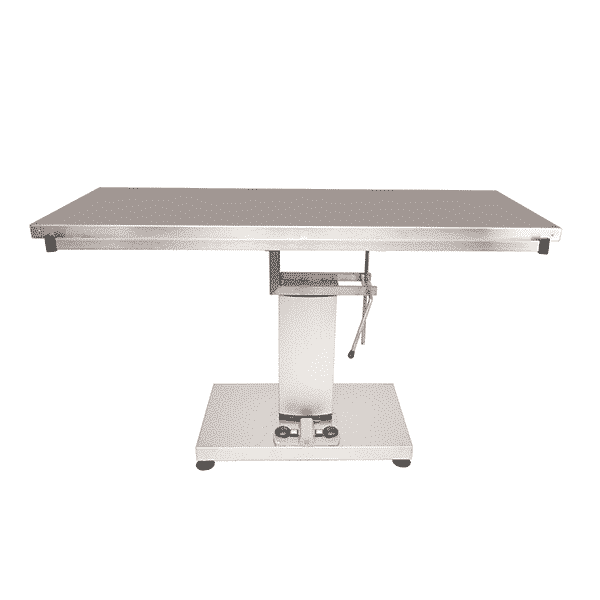 Surgery table with flat top and electric column