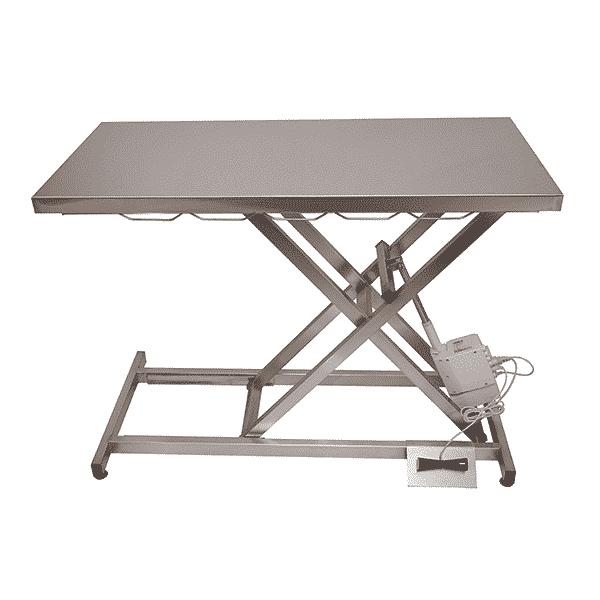 Table de consultation électrique plateau inox