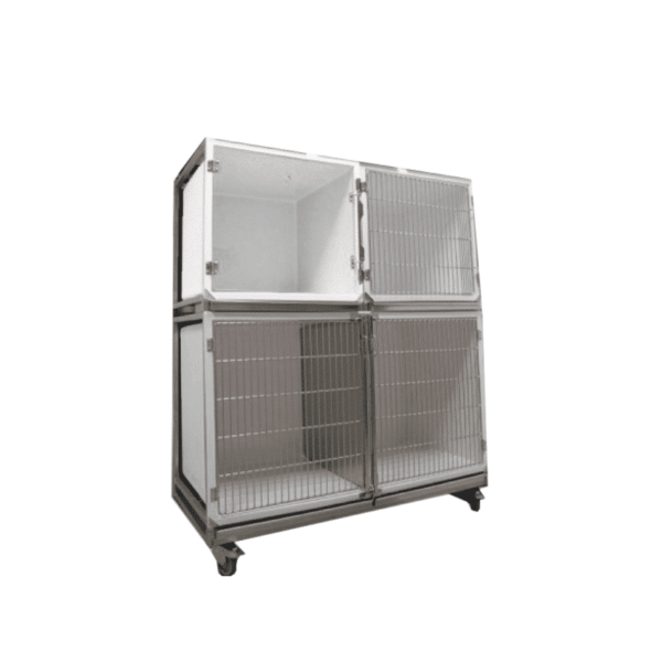 Set of 3 polyester cages on wheeled chassis (1C + 2B)