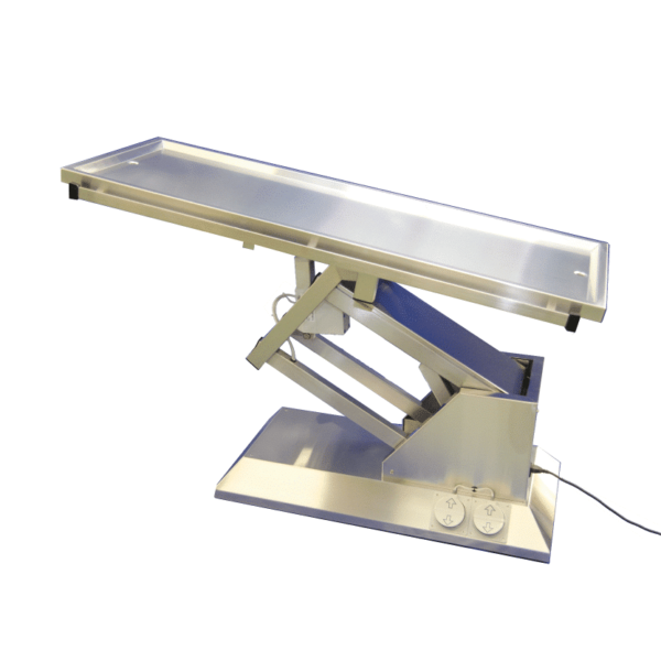 electric surgery table with evacuation