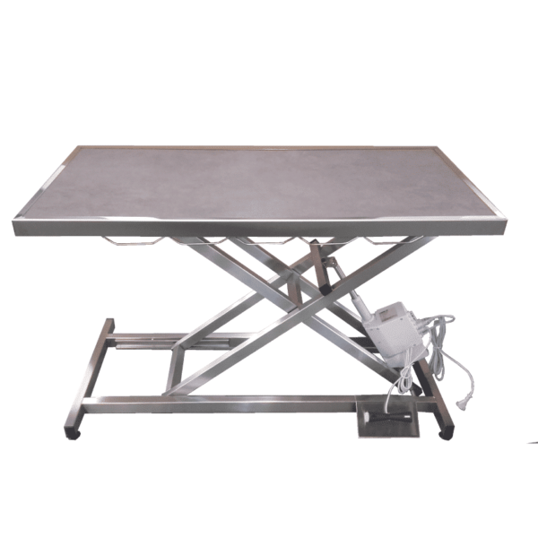 electric veterinary consultation table with frame