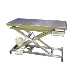 Electric consultation table with weighing