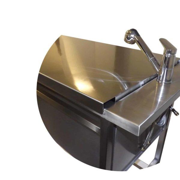 Single lever table mixer