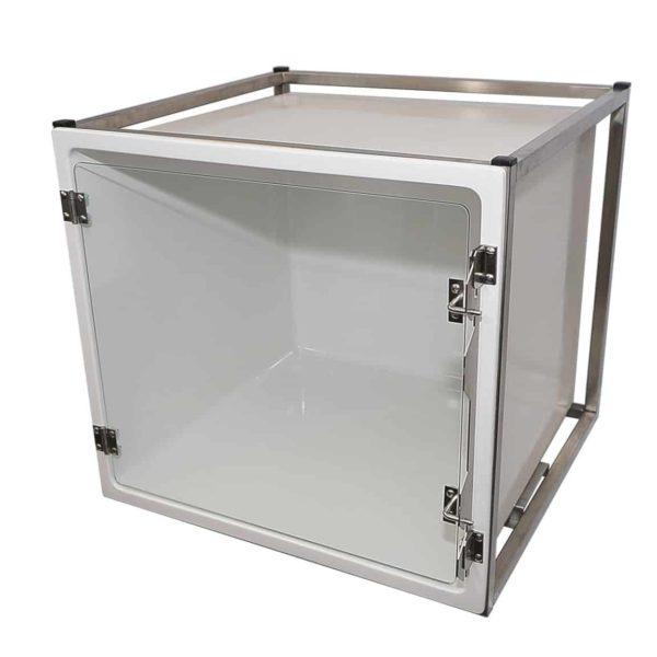 Cage polyester – Format A – avec porte en verre