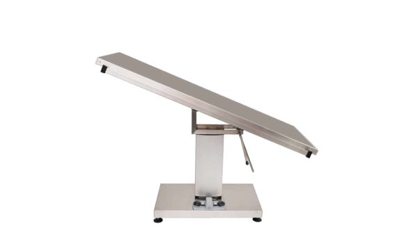 Surgery table with stainless steel flat top 1400x530 central electric column (Trendelenburg - manual Trendelenburg)