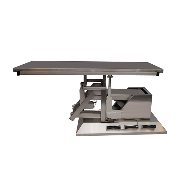 TA700100 Table chirurgie plateau plat INOX 1400x530 (Proclive - déclive électrique) inclinaison 3e sens N1