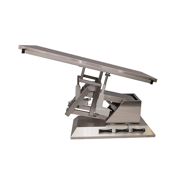 TA700100 Surgery table with stainless steel flat top 1400x530 (Trendelenburg - Electric Trendelenburg) inclination 3rd direction N3