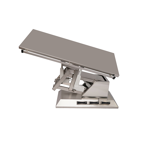 TA700100 Table chirurgie plateau plat INOX 1400x530 (Proclive - déclive électrique) inclinaison 3e sens N5