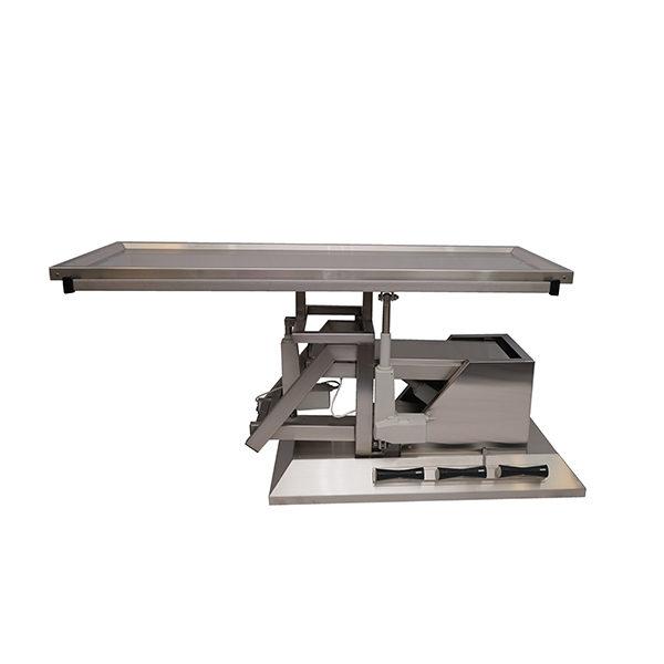 Table chirurgie avec inclinaison 3e sens et plateau une évacuation