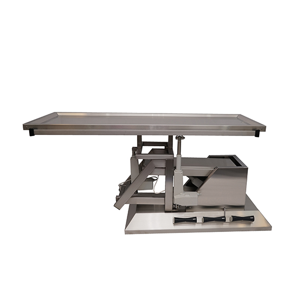 TA700100 Surgery table with stainless steel flat top 1400x530 (Trendelenburg - Electric Trendelenburg) inclination 3rd direction N6