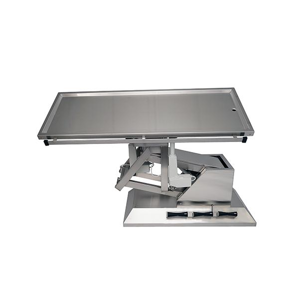 TA700101 Table chirurgie plateau 1 évacuation 1400x530 (Proclive - déclive électrique) inclinaison 3e sens N2