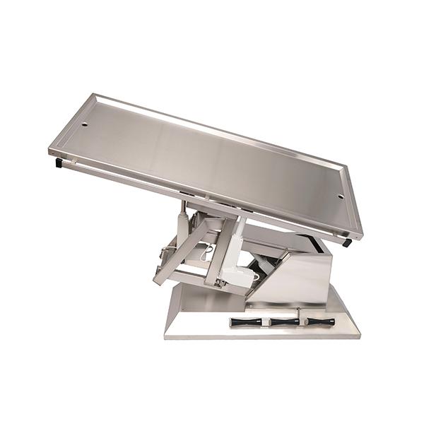 TA700105 Table chirurgie plateau 2 évacuations 1400x530 (Proclive - déclive électrique) inclinaison 3e sens N5