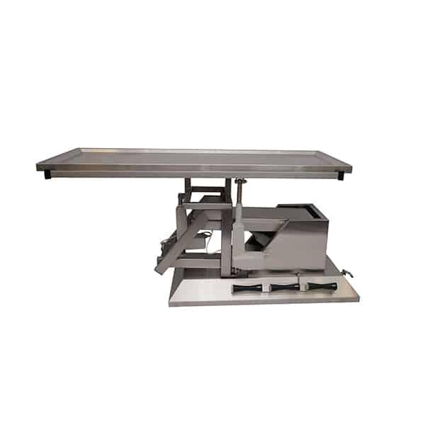 TA700111 Table chirurgie plateau 1 évacuation 4 roues 1400x530 (Proclive - déclive électrique) inclinaison 3e sens N1