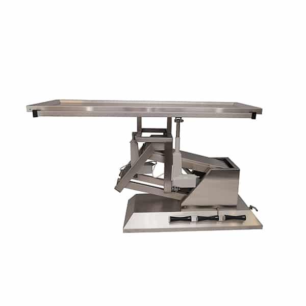 TA700111 Table chirurgie plateau 1 évacuations 4 roues 1400x530 (Proclive - déclive électrique) inclinaison 3e sens N4