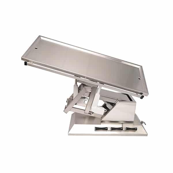 TA700115 Table chirurgie plateau 2 évacuations 4 roues 1400x530 (Proclive - déclive électrique) inclinaison 3e sens N5