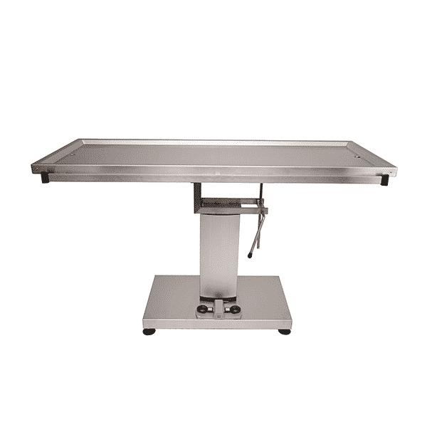 Table chirurgie avec colonne centrale électrique et plateau deux évacuations