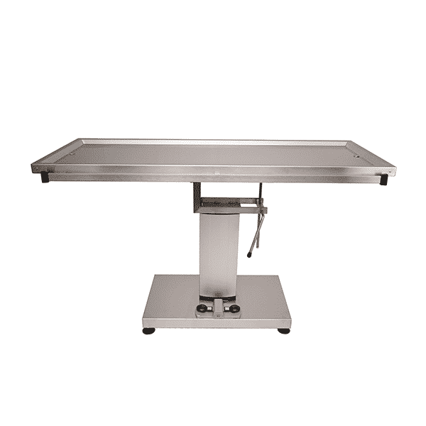 Surgery table with tray 2 evacuations