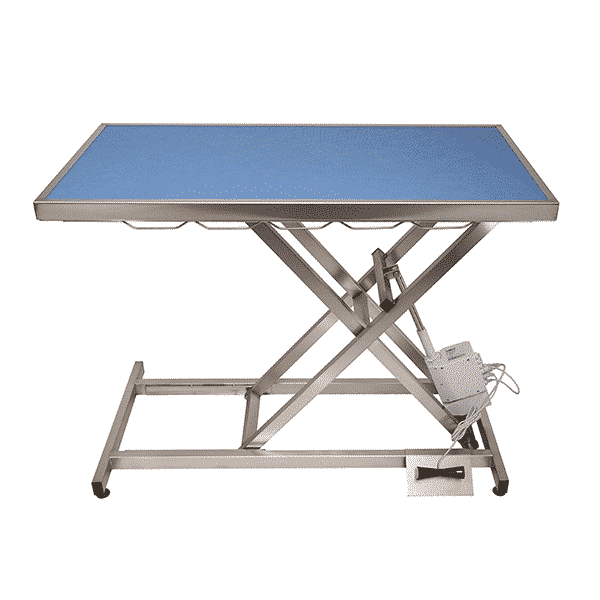 Electric consultation table with carpet and frame