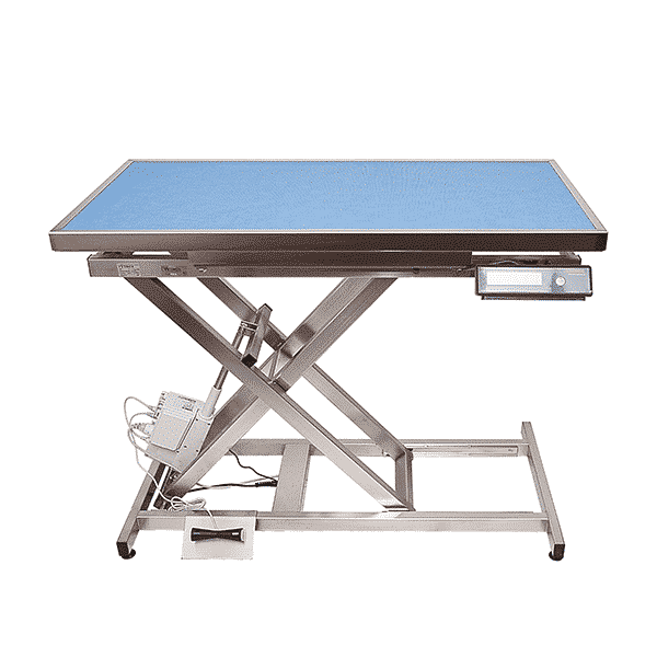 Electric consultation table, carpet and frame with integrated weighing system