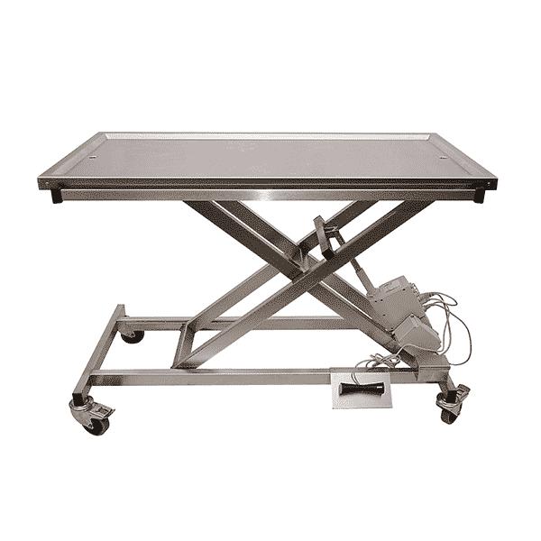 Table brancard et Chirurgie, électrique plateau 2 évacuations avec batterie