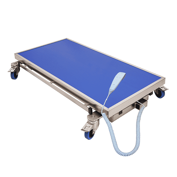 electric veterinarian table with radiology table top and remote control