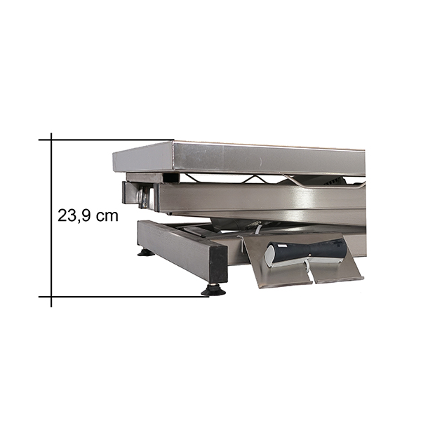 TA400000 Table consultation électrique ELITE plateau plat INOX N3