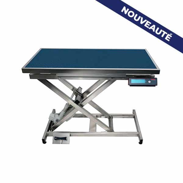 ELITE consultation table with carpet and frame and automatic weighing