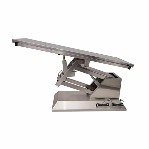 TA700010 Table chirurgie plateau plat INOX 4 roues 1400x530 (Proclive - déclive électrique) N2