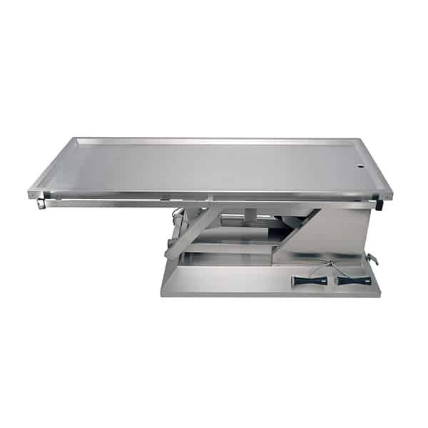 TA700011 Table chirurgie plateau 1 évacuation 4 roues 1400x530 (Proclive - déclive électrique)N1
