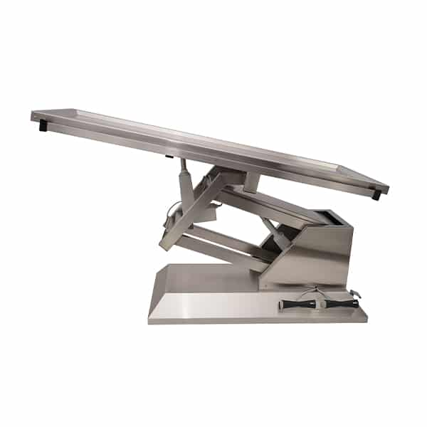 TA700011 Table chirurgie plateau 1 évacuation 4 roues 1400x530 (Proclive - déclive électrique)N2