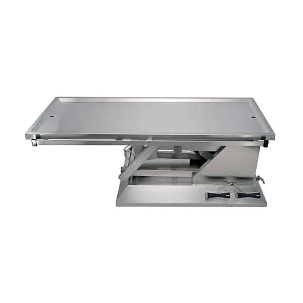 TA700015 Table chirurgie plateau 2 évacuations 4 roues 1400x530 (Proclive - déclive électrique) N1