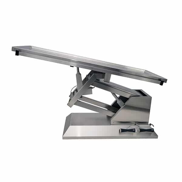 TA700015 Table chirurgie plateau 2 évacuations 4 roues 1400x530 (Proclive - déclive électrique) N2