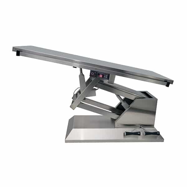 TA701000 Table chirurgie plateau chauffant plat INOX 1400x530 (Proclive - déclive électrique) N2